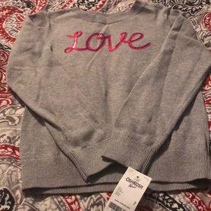 "NWT Oshkosh ""Love"" sweater size 7"